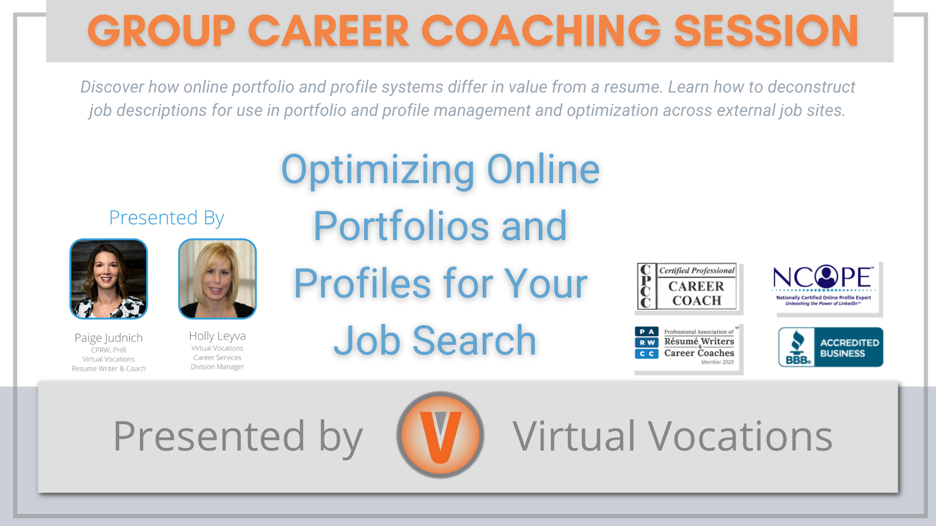 Optimizing Online Portfolios and Profiles for Your Job Search