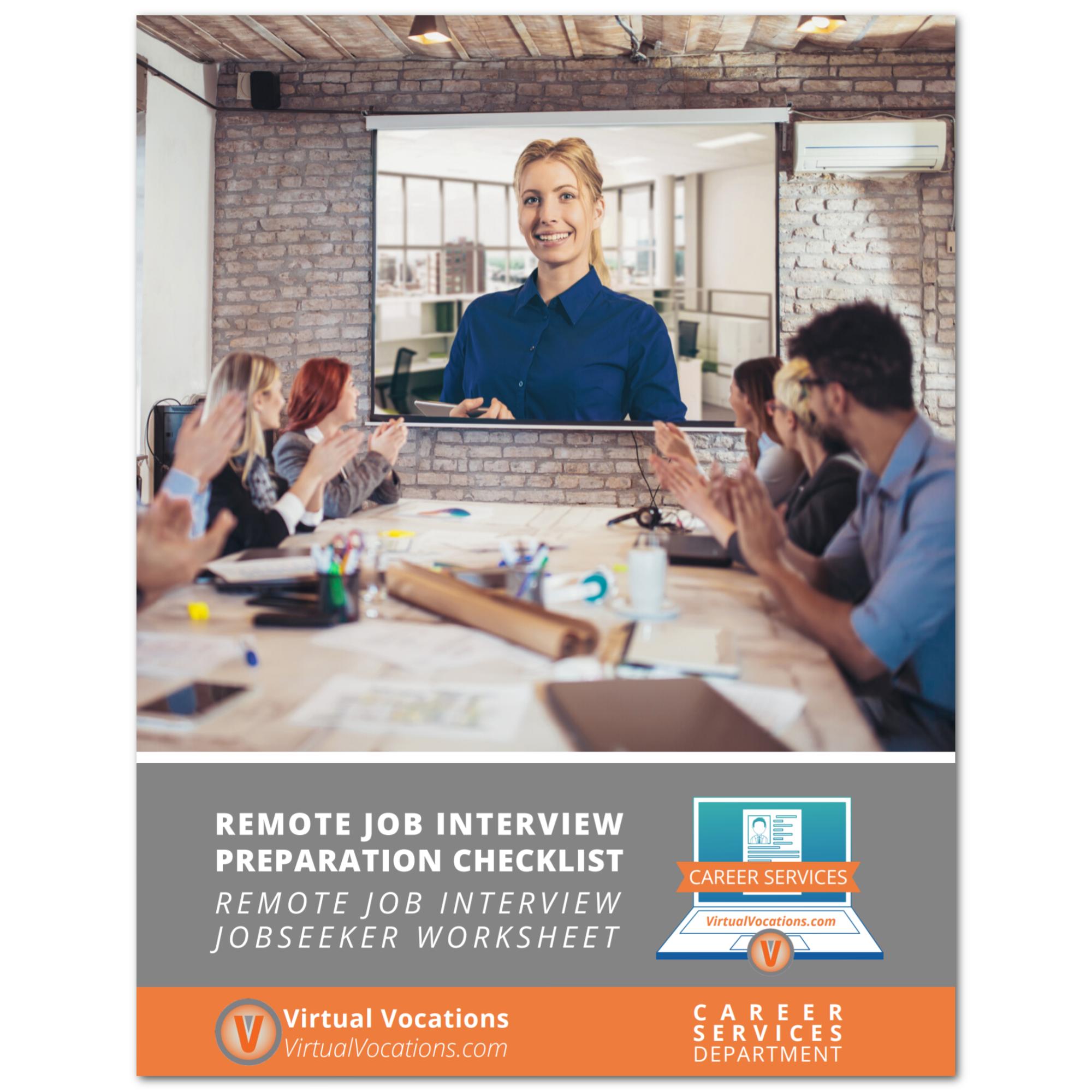 Remote Job Interview Preparation Checklist