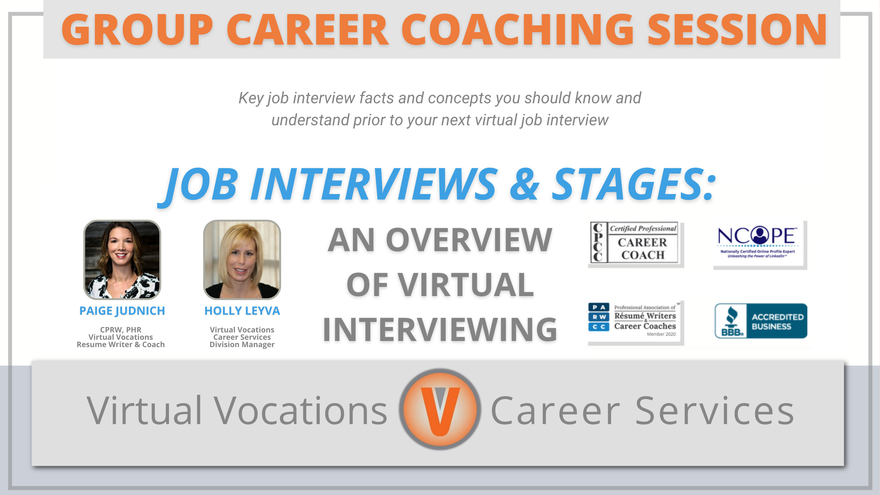 Interview Series Part One: Job Interviews & Stages