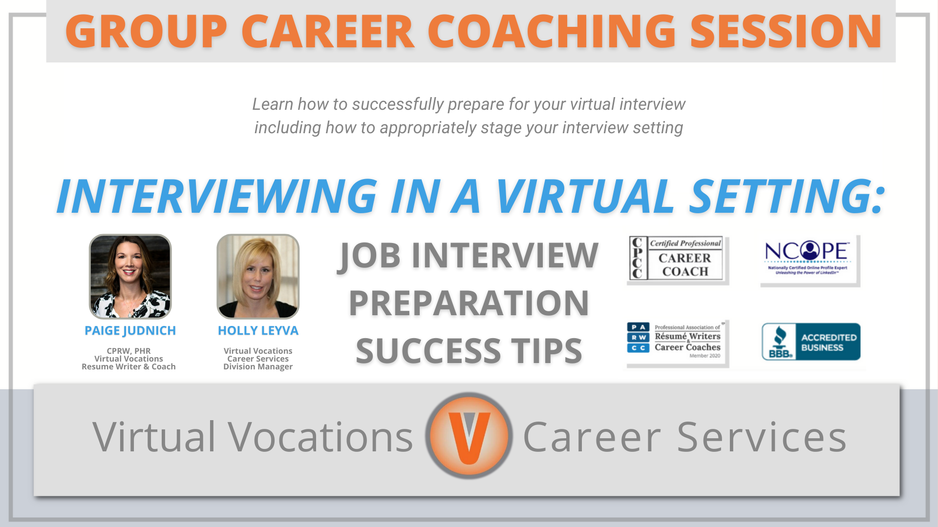 Interview Series Part Three: Interviewing In A Virtual Setting