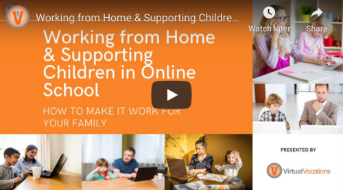 Working from Home and Supporting Children in Online School